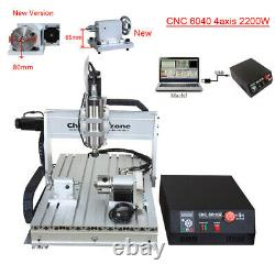 2.2KW 4-Axis CNC Router 6040 Mach3 USB Engraving Cutting Drilling DIY Machine US