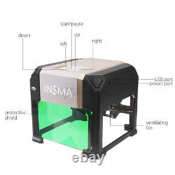 3000MW USB Laser Engraving Cutting Machine DIY Logo Printer CNC Engraver Desktop