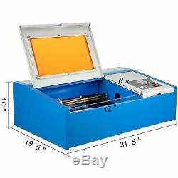 40W Co2 USB Laser Engraving Cutting Machine Engraver Cutter Chiller 300200mm