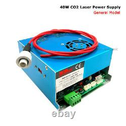 40W Power Supply + Laser Tube for CO2 Laser Engraving Cutting Machine 110V T3 W