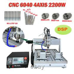 4-Axis 2200W CNC 6040 Engraver DSP Router Engraving DIY Milling Cutting Machine