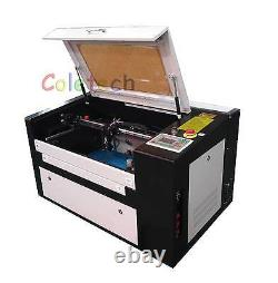 Brand New 60W CO2 Laser Engraving Cutting Machine with Auxiliary Rotary Device B