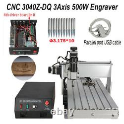 CNC 3040 3Axis 500W Engraving Machine Cutting Router Engraver with USB CNC Cable