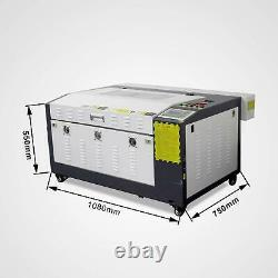 Hot RUIDA 80W Co2 Laser Engraving&Cutting Machine With Motorized Table 16''x24'