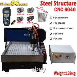 Steel 6040 4axis 2.2KW Engraver Router DIY Milling/Cutting Machine For Aluminum