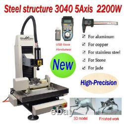 Steel Structure CNC 3040 5-axis 2200W Metal Router Engraver Cutting Machine