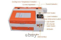 TEN-HIGH 430 50W Engraving Cutting CO2 Laser Machine with USB port 110/220V